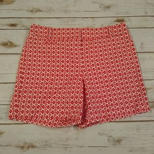 Ann Taylor LOFT Red/White Riviera Shorts